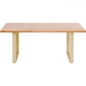 Stůl Jackie Oak Brass 160x80