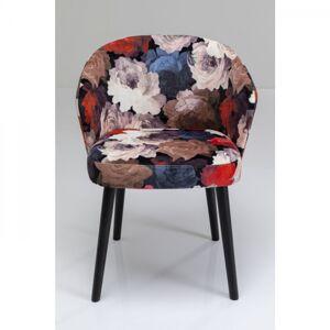 Barevná čalouněná židle s područkami Peon Red