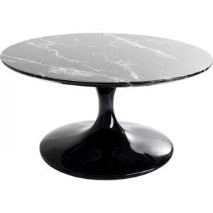 Konferenční stolek Solo Marble - černý, 90cm
