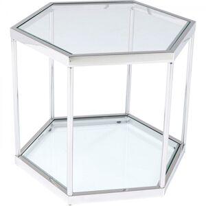 Konferenční stolek Comb - stříbrný, 45cm