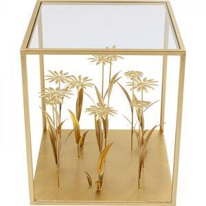 Odkládací stolek Flower Meadow - zlatý, 40x40cm