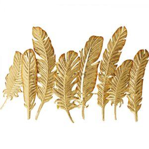 Zlatý věšák na zeď Leaf