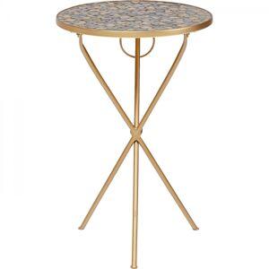 Odkládací stolek Clack Mosaic - barevný, O36cm