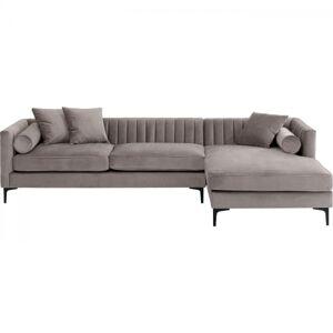 Rohová sedačka Variete - šedá, pravá, 288x160cm