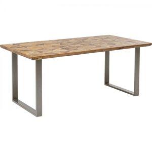 Jídelní stůl Stars - stříbrný kov, 180x90cm
