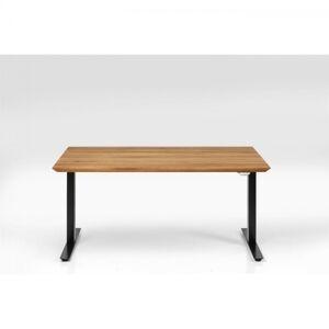 Dubový výškově nastavitelný stůl Symphony - černé, 160x80