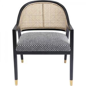 Černá polstrovaná židle s područkami Horizon