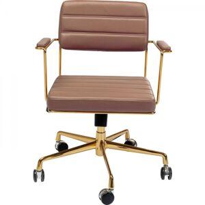 Hnědá polstrovaná kancelářská židle Dottore
