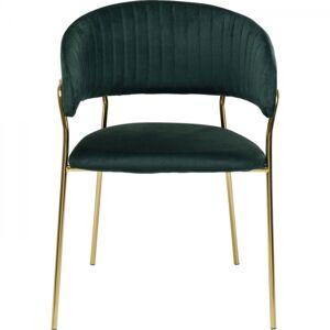 Zelená polstrovaná židle s područkami Belle (set 2 ks)