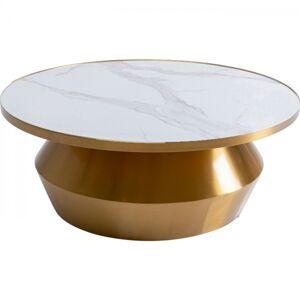 Zlatý konferenční stolek Wonder Black O80cm