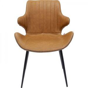 Hnědá židle s područkami Enders