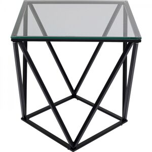 Odkládací stolek Cristallo - černý, 50x50cm