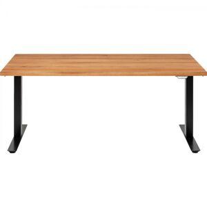 Výškově nastavitelný stůl Jackie - černý, 200x100cm