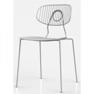 Bílá jídelní židle Arezzo