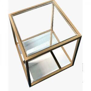 Malý odkládací stolek Luigi - zlatý, 50x50cm